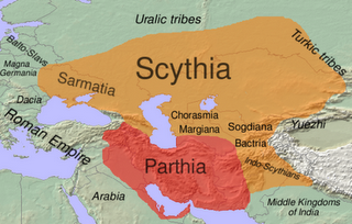 Scythia Parthia Map